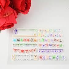 wholesale decora colorized contour clear transparent stamp diy
