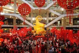 New Year Decorations 2015 by Pavilion Kl Celebrates The Year Of The Goat Lipstiq Com
