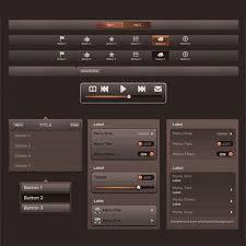 Two Dark Ui - dark amber ui web user interface kit uicloud