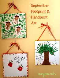 diy fall handprint u0026 footprint art september u2022