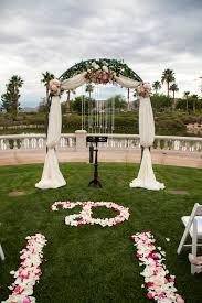 las vegas wedding planner siena golf club draped arch