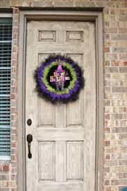 halloween tulle wreath large black purple green orange sparkle