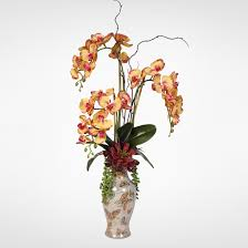 Artificial Flower Arrangement In Vase Silk Flower Arrangements Artificial Orchid Rose Peony Daisy