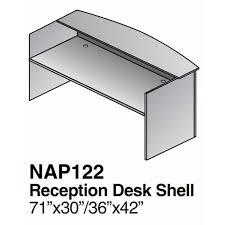 Reception Desk Shell Reception Desk Shell 72x36x42 Espresso