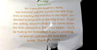 dad plays the sweetest halloween trick on daughter aboard flight