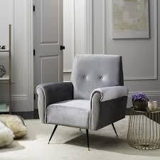 Retro Accent Chair Fox6285b Accent Chairs Furniture By Safavieh