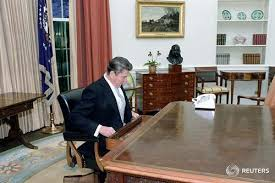 reagan oval office first words as president reuters com