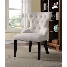 Tufted Accent Chair Button Tufted Accent Chair With Nail Head Trim