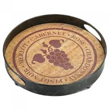 themed serving tray metal and wood wine themed serving tray aewholesale