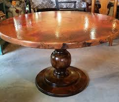 Hammered Copper Dining Table Copper Table Barrio Antiguo