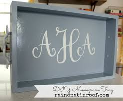 diy home decor gifts diy monogram tray a great gift idea