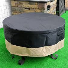Outdoor Firepit Cover Stanbroil Coverage Pit Cover Black 60 Inch