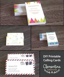 download a free printable business card fill in your details on