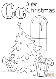 letter c is for christmas coloring page free printable coloring