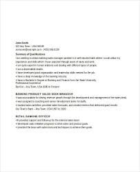 Sales Management Resume Banking Resume Samples 45 Free Word Pdf Documents Download