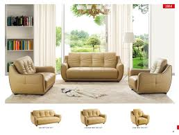 2088 leather modern 3 pcs sets living room furniture