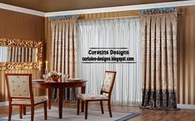Curtain For Dining Room by Pleated Curtain Design Embossed Dining Room Curtain