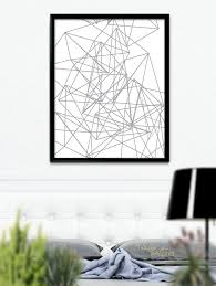 Nordic Design by Modern Geometric Poster Nordic Design Grey Geometric Poster