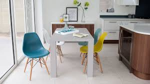 eames inspired dining table gloss extending dining table and eames dining chairs