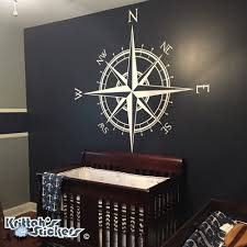 compass rose vinyl wall or ceiling decal k514 zoom
