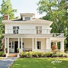 Houses With Big Porches Best 25 Foursquare House Ideas On Pinterest Craftsman Style