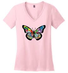 butterfly swirls premium s v neck shirts monarch butterfly