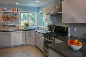 pictures of light colored kitchen cabinets throwing shade on the gray kitchen design in a way