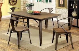 small kitchen table for 4 coachella industrial natural elm dining table set