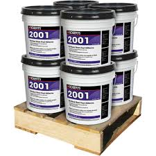 4 gal felt back sheet vinyl glue adhesive superior