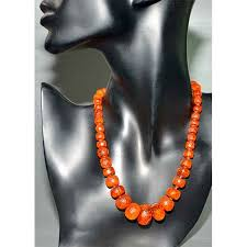 bead necklace style images Antique 19thc faceted cylindrical amber bead necklace divine jpg
