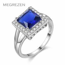 engagement rings with blue stones aliexpress buy megrezen charms engagement ring with blue