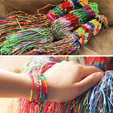 bracelet woven images New arrival one dozen pure manual colorful summer woven bracelets jpg