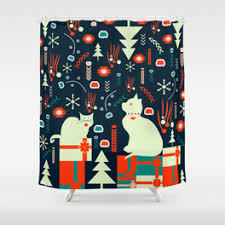 Santa Curtains Santa Shower Curtains Society6