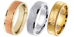hammered gold wedding band gold wedding bands designer white yellow two tone tri color