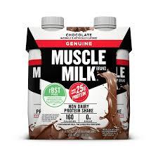 100 calorie muscle milk light vanilla crème muscle milk genuine protein shake chocolate 25g protein 4 ct