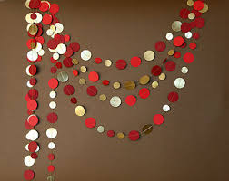 Red Wedding Decorations Gold Red Garland Gold Garland Red Wedding Bunting