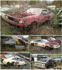 mustang salvage yard carspotting auto archeology mustang ii stash proves almost as