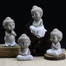 authentic pale blue ru opening tea pet ornaments buddhism