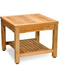 Wood Patio Side Table Teak Outdoor Side Table Created For Macy U0027s Furniture Macy U0027s