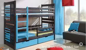 chambre garçon lit superposé lit superposé gris graphite en bois massif pour chambre enfant et ado