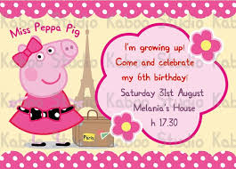 peppa pig birthday invitations badbrya