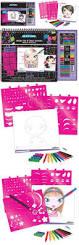 makeup hair design sketch portfolio with colored pencils makeup