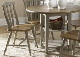 Casual Dining Room Furniture by Drop Leaf Leg Round Dining Table With Solids Rubberwood Driftwood