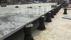 plastic outdoor deck flooring adjustable pedestal raised floor