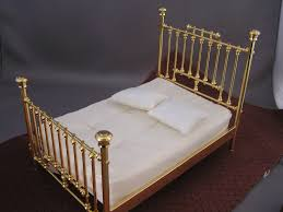 Brass Double Bed Frame Bed Frames Studebaker Miniatures Vintage U0026 Artisan Dollhouse