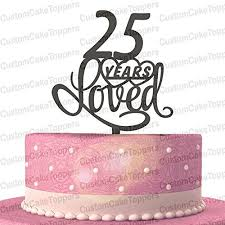 anniversary cake toppers 25th anniversary cake toppers shop 25th anniversary cake toppers