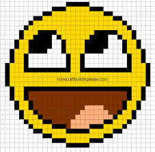 minecraft building templates minecraft pixel templates awesome smiley