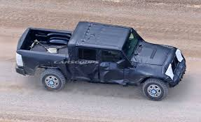 jeep crew chief jeep u0027s upcoming wrangler based pickup truck finally spotted