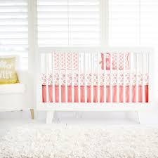 sunny southwest coral crib bedding set rosenberryrooms com