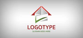 abstract house logo template free logo design templates
